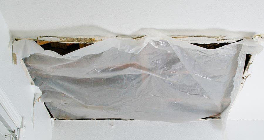 plastic sheet to cover large ceiling hole